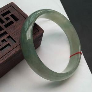 缅甸天然A货翡翠 免费领钱100元微信红包带绿手镯 55圈口